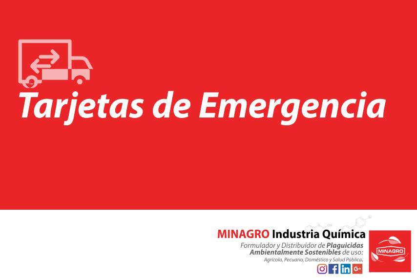 Tarjeta de Emergencia Productos Minagro Industria Quimica